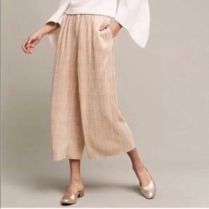 NWOT Anthropologie Gold Flowy Pants